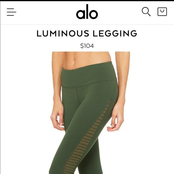 69426e571b35e8 ALO Yoga Pants | Alo Luminous Legging In Hunter Green | Poshmark